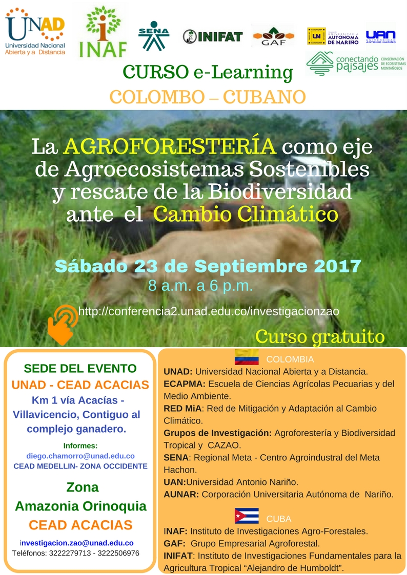 CURSO e LearningCOLOMBO CUBANO La AGROFORESTERIA como eje de Agroecosistemas Sostenibles y rescate de la Biodiversidad ante el Cambio climático 1