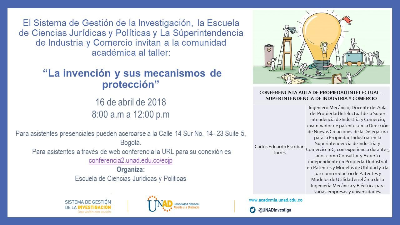 Invención y protección Invitación