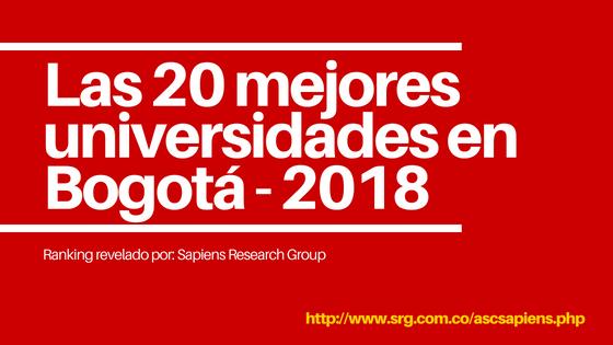 Las 20 mejores universidades en Bogotá