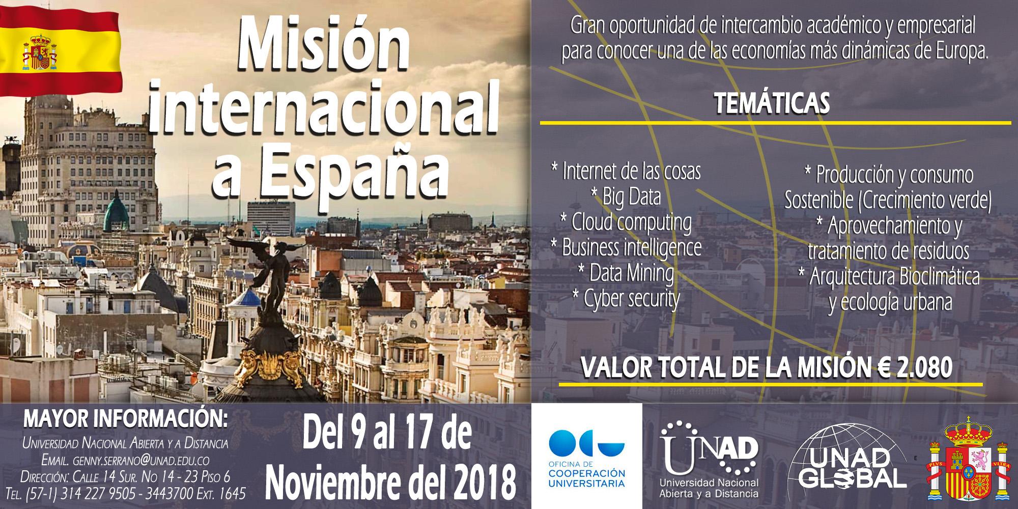 Misión internacional unadista a España 050618