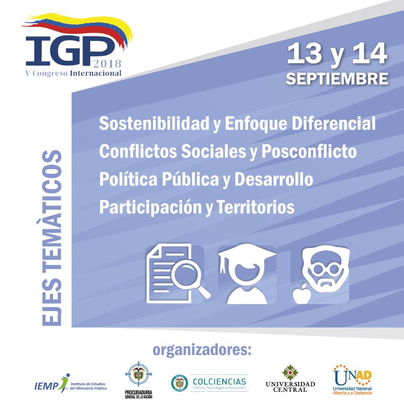 V congreso de IGP ejes tematicos ECJP