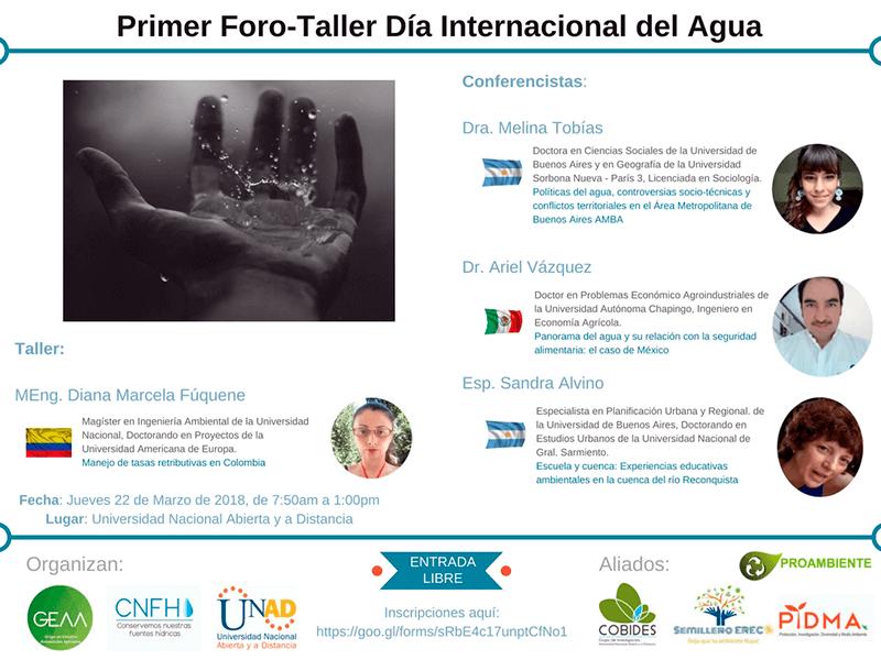 1er Foro Taller Día Internacional del Agua 2018
