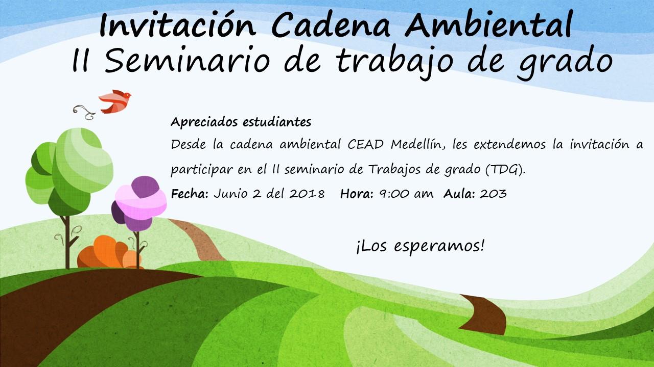Invitación Cadena Ambiental
