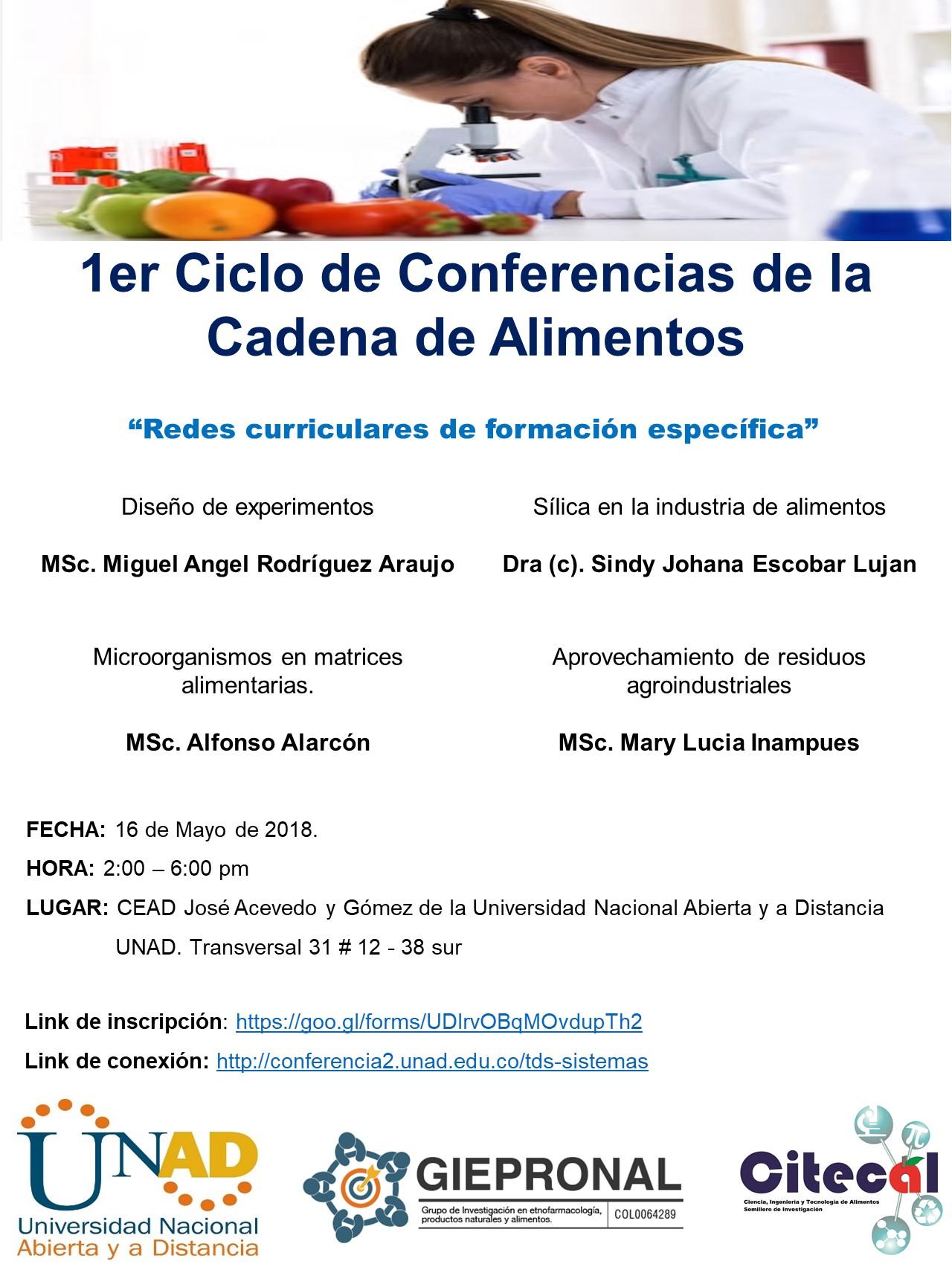 1er Ciclo de Conferencias de la Cadena de Alimentos