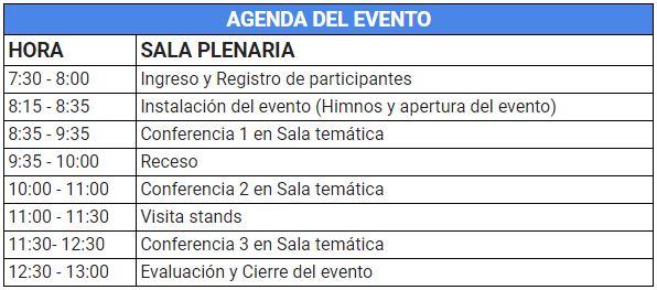 agenda evento pitalito 24112018