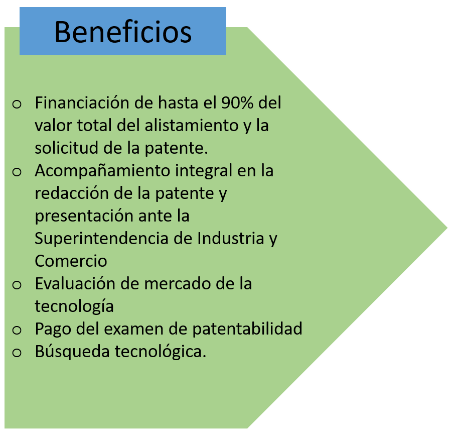 Beneficios Convocatoria Patentes