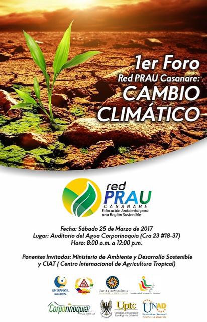 Invitación Foro Cambio Climático