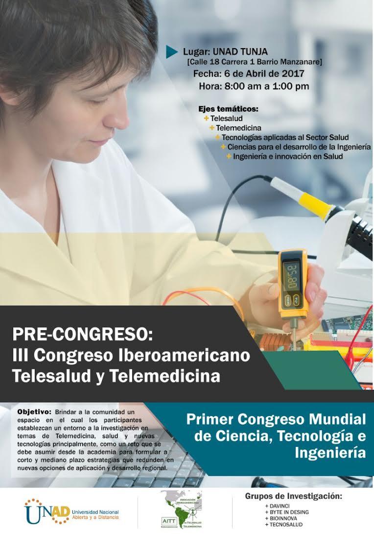 Invitación Precongreso Telemedicina